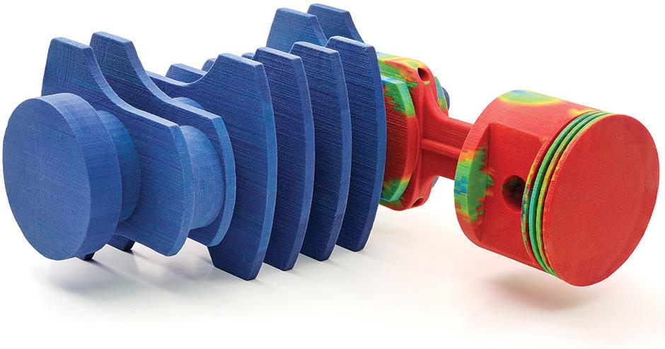 采用 3D Systems CJP 增材技术的全彩 3D 打印活塞原型