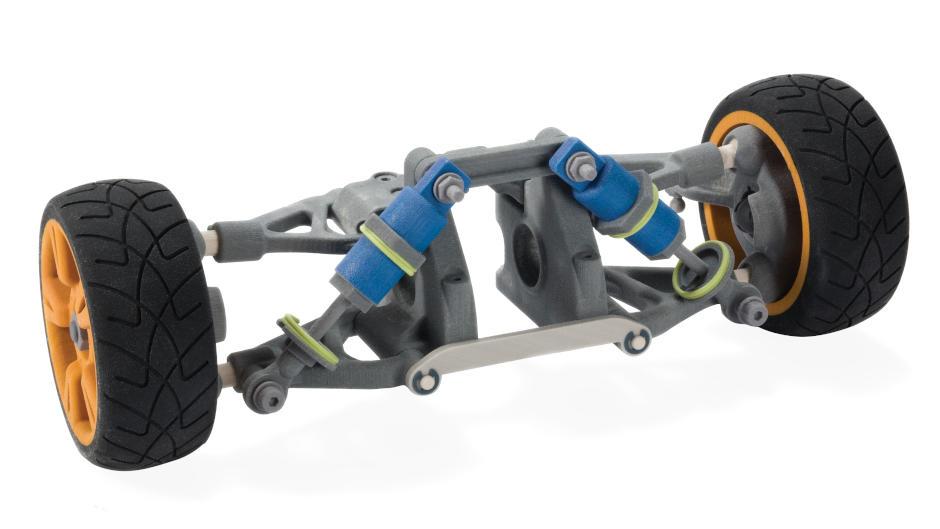 彩喷打印 CJP 打印的轮轴原型