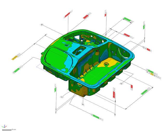 Geomagic Control X 计量软件的尺寸测量功能