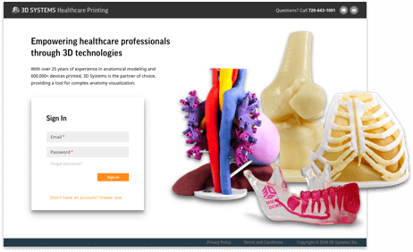 On demand anatomical models landing page image