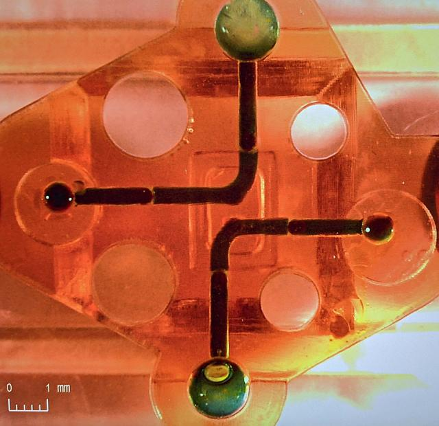 以 Figure 4 MED-AMB 10 3D 打印的微流体材料盒